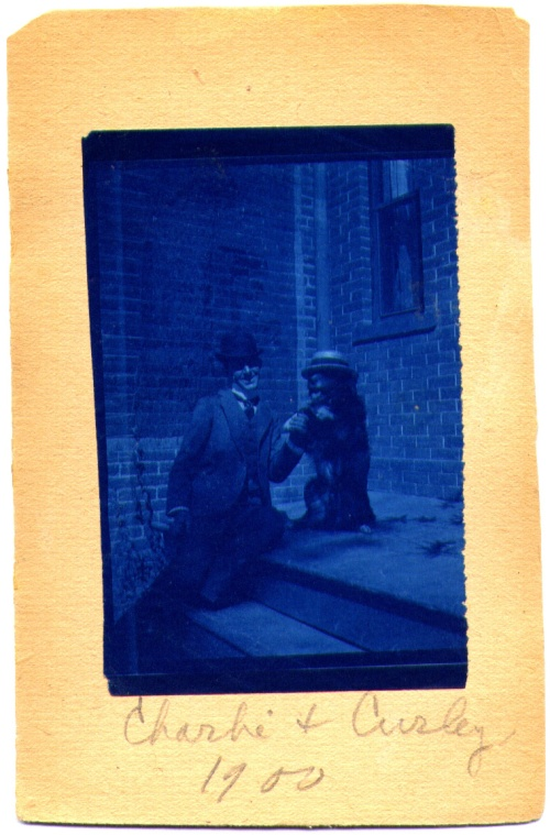 Charley and Curley, cyanotype, ca. 1900-1910.